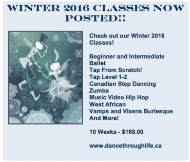 Winter 2016 Classes Are Now Posted!