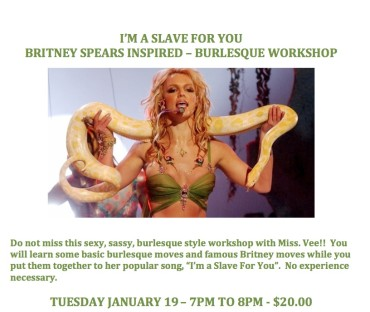I'm a Slave for You – Sexy Burlesque Workshop!
