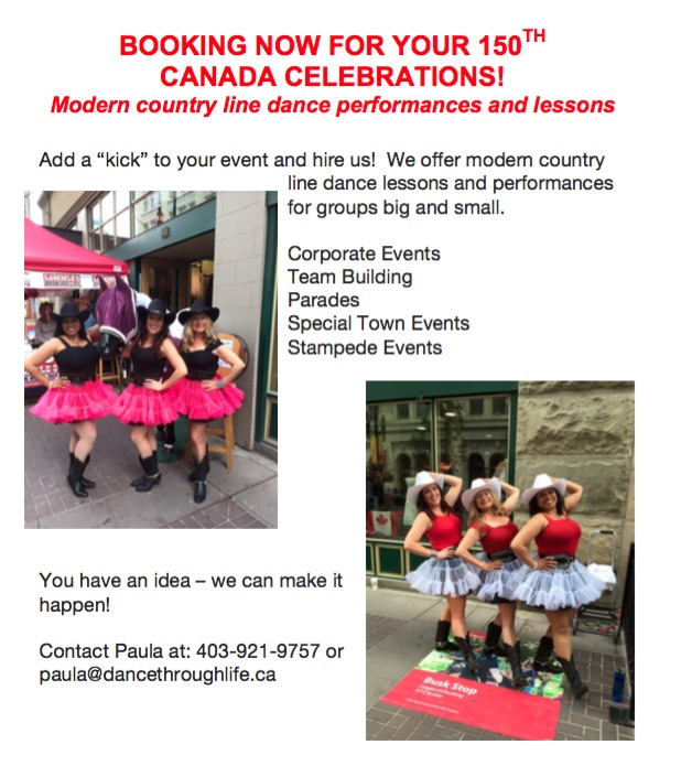 Booking for Canada 150 Events and Stampede!